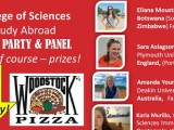 College of Sciences Study Abroad Pizza Party and Panel April 5th, 2016
