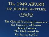 Dr. Jerome Sattler Receives the 1949 Award
