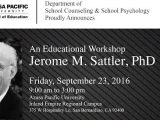Dr. Sattler Invited to Speak at Azusa Pacific University