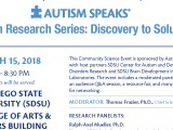 You are invited to the Autism Research Series: Discovery to Solutions on March 15, 2018