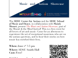 The Music and Autism Showcase – June 1st 3-5pm